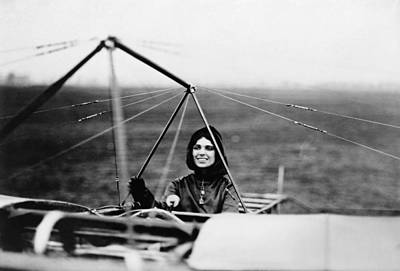 Photograph - Harriet Quimby In Her Bleriot Monoplane by War Is Hell Store