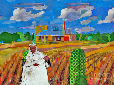 Harriet Tubman Painting - Harriet And The Station House by Joe Roache