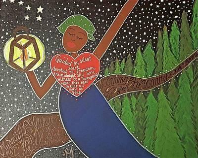Underground Railroad Painting - Harriet Tubman by Angela Yarber