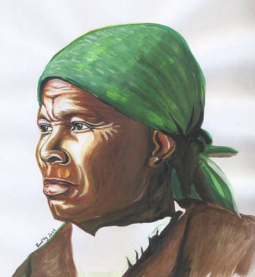 Painting - Harriet Tubman by Emmanuel Baliyanga