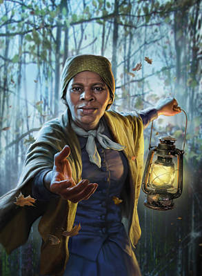 London Tube Digital Art - Harriet Tubman by Mark Fredrickson