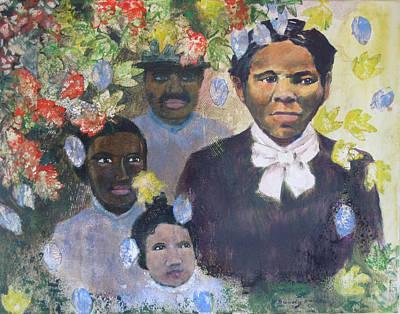 Painting - Harriet Tubman- Tears Of Joy Tears Of Sorrow by Art Nomad Sandra  Hansen