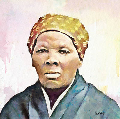 Harriet Tubman Art Print by Wayne Pascall