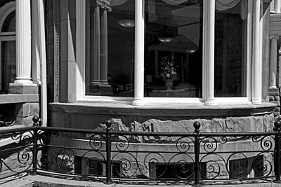 Photograph - Harrington Inn Detail 2 Bw by Mary Bedy