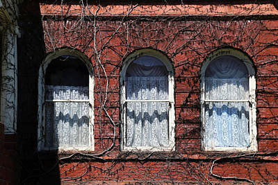 Photograph - Harrington Inn Windows by Mary Bedy
