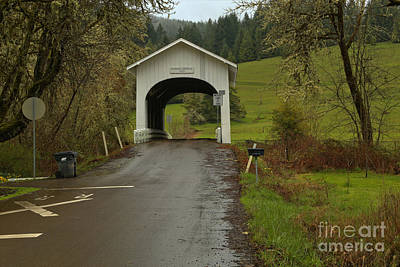 Photograph - Harris Covered Bridge - Oregon by Adam Jewell