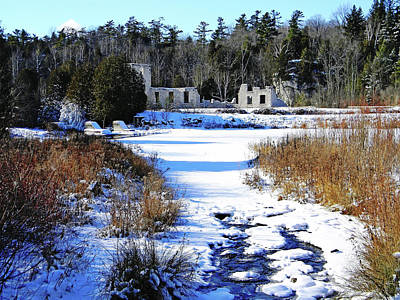 Photograph - Harris Woolen Mill Ruins by Debbie Oppermann
