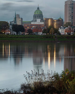 Photograph - Harrisburg At Dusk by Jim Cheney