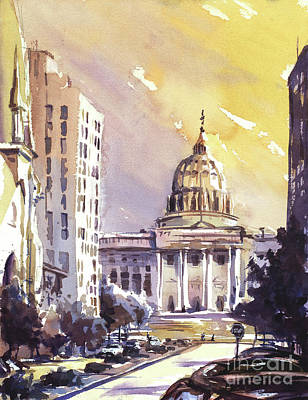 Capitol Building Painting - Harrisburg Capitol by Ryan Fox