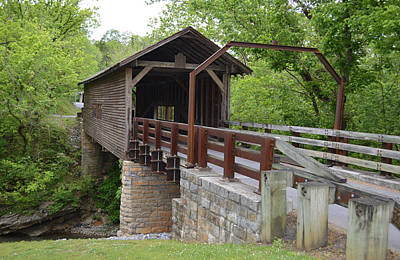 Photograph - Harrisburg Covered Bridge Tn by rd Erickson