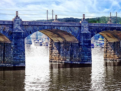 Marina Photograph - Harrisburg Pa - Market Street Bridge by Susan Savad
