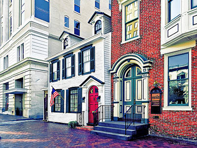 Photograph - Harrisburg Pa - Street With American Flag by Susan Savad