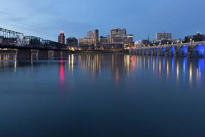 Photograph - Harrisburg, Pennsylvania Skyline At Night by Kyle Lee