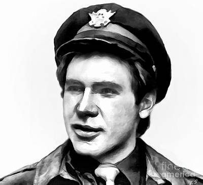 Drawing - Harrison Ford - 01 by Sergey Lukashin