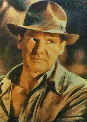Digital Art - Harrison Ford As Indiana Jones by Charmaine Zoe