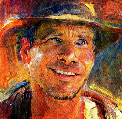 Digital Art - Harrison Ford Indiana Jones Portrait 3 by Yury Malkov
