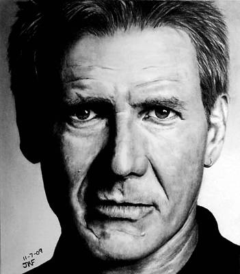 Drawing - Harrison Ford by Rick Fortson