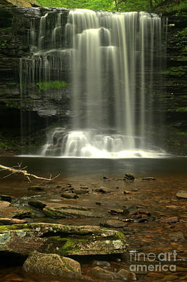 Photograph - Harrison Wrights Ricketts Glen Falls by Adam Jewell