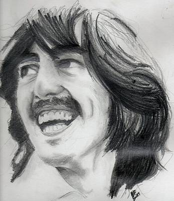 George Harrison Art Drawing - Harrison's Smile by Matt Burke