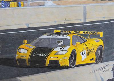 Sportscar Drawing - Harrod's Comes To France by Gustavo Bondoni