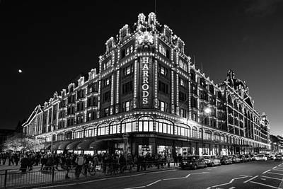 Photograph - Harrods Mono by Matt Malloy