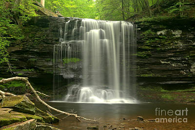 Photograph - Harrrison Wrights Waterfall by Adam Jewell