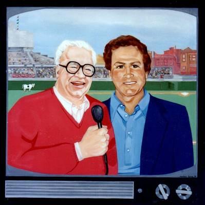 Harry Carey And Steve Stone Original by Marlene Burns