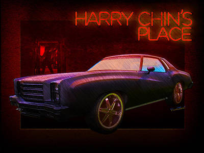 Digital Art - Harry Chins Place Over East Side Of Town by Chas Sinklier