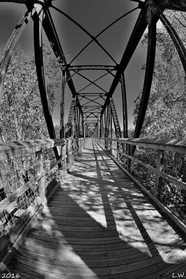 Photograph - Harry Easterling Bridge Peak Sc Black And White 2 by Lisa Wooten