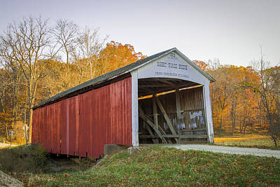 Photograph - Harry Evans Covered Bridge by Jack R Perry