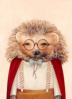 Animal Wall Art - Painting - Harry Hedgehog by Animal Crew