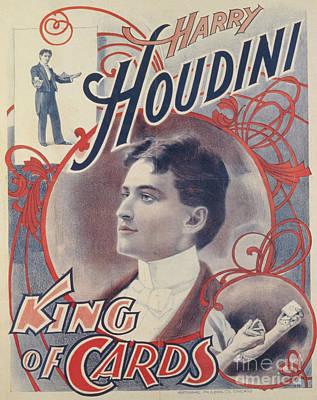 Harry Houdini, King Of Cards, 1895 Art Print