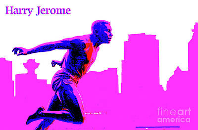 Photograph - Harry Jerome Statue Stylized by Maria Janicki