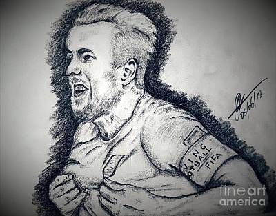 Harry Kane Wall Art - Drawing - Harry K by Collin A Clarke