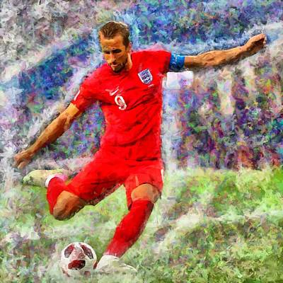 Harry Kane Wall Art - Digital Art - Harry Kane by Caito Junqueira