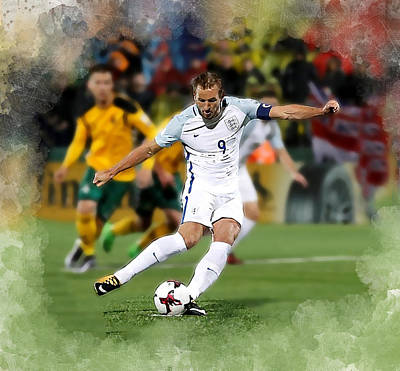 Harry Kane Wall Art - Digital Art - Harry Kane by Karl Knox Images