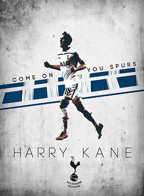 Tottenham Digital Art - Harry Kane by Semih Yurdabak