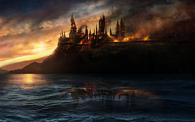 Deathly Hallows Digital Art - Harry Potter 7 Deathly Hallows by Emma Brown