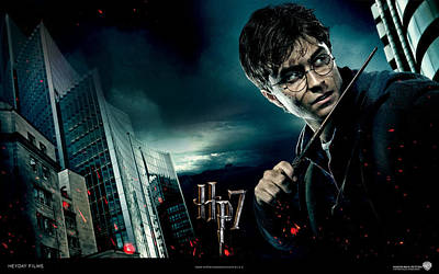 Deathly Hallows Digital Art - Harry Potter And The Deathly Hallows by Emma Brown