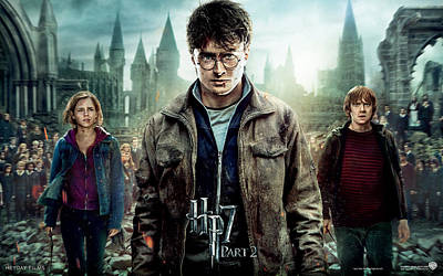 Deathly Hallows Digital Art - Harry Potter And The Deathly Hallows Part 2 by Emma Brown