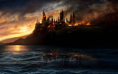 Deathly Hallows Digital Art - Harry Potter And The Deathly Hallows Part I 2010  by Fine Artist