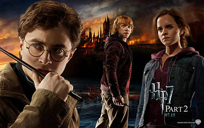 Deathly Hallows Digital Art - Harry Potter Deathly Hallows Part II by F S