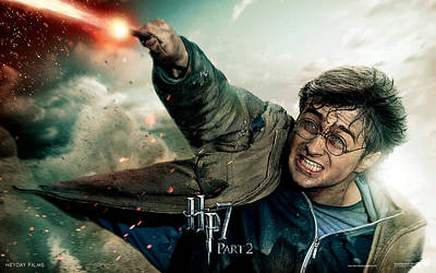 Deathly Hallows Digital Art - Harry Potter In Deathly Hallows Part 2 by Emma Brown
