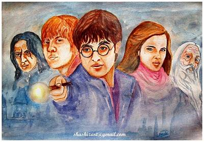 Hermione Painting - Harry Potter Legends by Shashikanta Parida