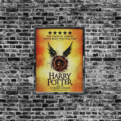 Harry Potter London Theatre Poster Art Print by Mark Rogan