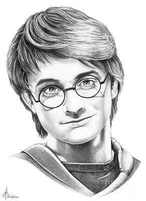 Harry Drawing - Harry Potter by Murphy Elliott