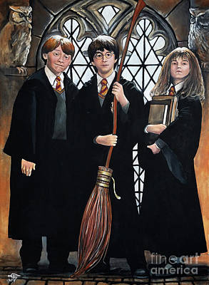 Harry Potter Painting - Harry Potter by Tom Carlton