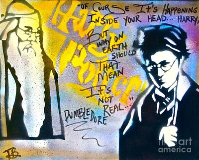 Free Speech Painting - Harry Potter With Dumbledore by Tony B Conscious