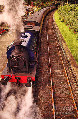 Photograph - Harry Potters Haverthwaite Railway Station by Graham Hawcroft pixsellpix
