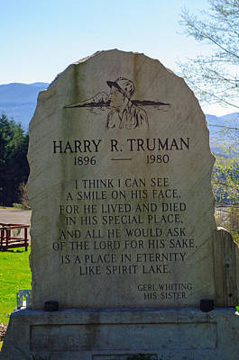 Photograph - Harry R, Truman Memorial by Tikvah's Hope
